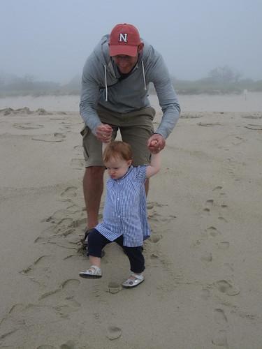 Daring to walk toward the water