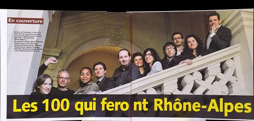 Acteurs de l'économie – n°100 – Les 100 qui feront Rhône-Alpes – En couverture