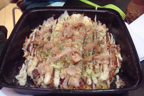 Okonomiyaki with Shrimp and Bacon from the Glowfish Truck