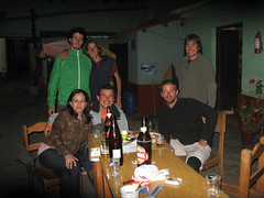 Interagindo com a galera no Hostal.