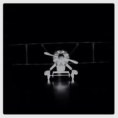 Vintage Polaroid biplane-xray