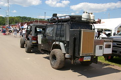 One Of A Kind Jeep Wrangler TJ Overland Trailer (geepstir) Tags: truck offroad pennsylvania 4wd pa monstertrucks bloomsburg truckshow columbiacounty