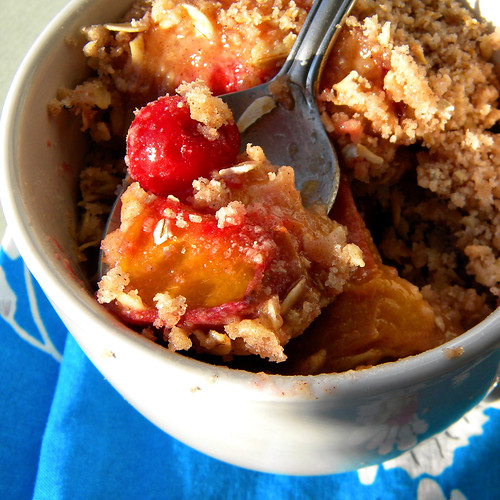 Peach and Sour Cherry Cobbler 2