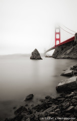Sausalito Fog (Silent G Photography) Tags: sanfrancisco california ca longexposure fog reflections raw goldengatebridge adobe le sausalito marinelayer selectivecolor colorefexpro nd110 niksoftware 10stopndfilter ononesoftware lightroom3 bwnd110 nikond7000 nikkor1635mmf4 markgvazdinskas silentgphotography perfectlayers