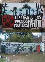 SAN MIGUEL Y LA PINCOYA (AMPA_MUROS) Tags: color muro calle mural propaganda colores protesta paco muralla propa subversion mapuche artecallejero represion mapu carabinero ampa presospoliticos wallmapu pintural