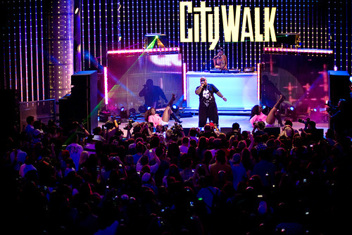 Cee Lo Green's performance at CityWalk