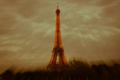 Eiffel Tower explodes
