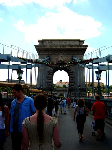 Free Cultural Summer Events on Lanchid, Chain Bridge, Budapest, Hungary