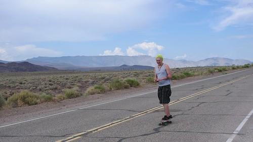 Ben rides Death Valley