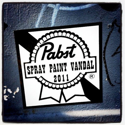 Art: Pabst Spray Paint Vandal by Sanctuary-Studio