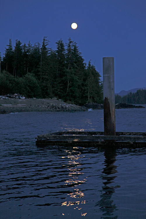 moon over Kasaan Harbor, Kasaan, Alaska
