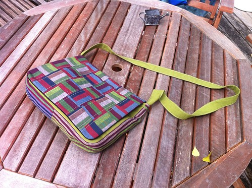 patchwork bag, flap