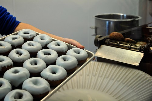 Fresh Blueberry Doughnuts
