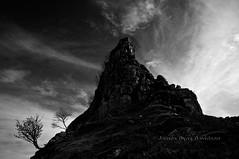 Torr at Faerie Glen, Skye (James_at_Slack) Tags: trees bw outcrop skye silhouette clouds scotland highlands dramatic torr faerieglen fairyglen