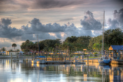 Daybreak (~Life by the Drop~) Tags: morning water st sailboat sunrise dawn dock nikon florida petersburg filter nd hdr graduated cokin photomatix 70300vr d700 stunningphotogpin