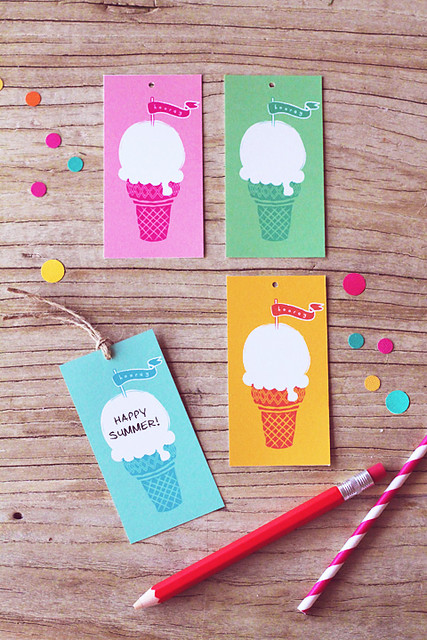 Summer Ice Cream FREE tags