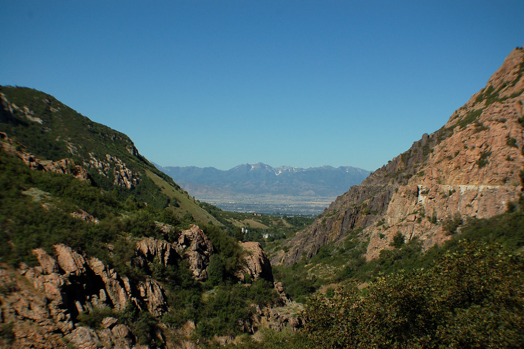 Central Salt Lake Valley, Oquirrh Mountains, historic flume in Big Cottonwood Canyon