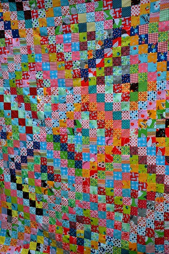 Quilt top on line - detail