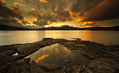 Reflections (.Brian Kerr Photography.) Tags: sunset sky mountains water pool clouds canon reflections landscape scotland bravo scottish reflective loch dumfriesandgalloway gallowayforest clatteringshawsloch eos5dmkii