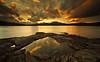 Reflections (.Brian Kerr Photography.) Tags: sunset sky mountains water pool clouds canon reflections landscape scotland bravo scottish reflective loch dumfriesandgalloway gallowayforest clatteringshawsloch eos5dmkii