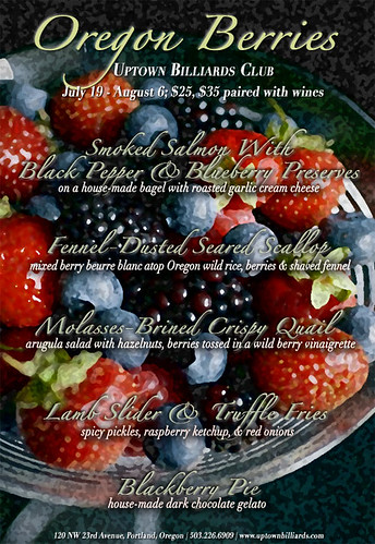 Uptown Billiards Club Berry Dinner