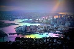 Aerial view of Sydney Harbour Bridge, Australia - Explored (Hopeisland) Tags: city sydney australia  2011   explored