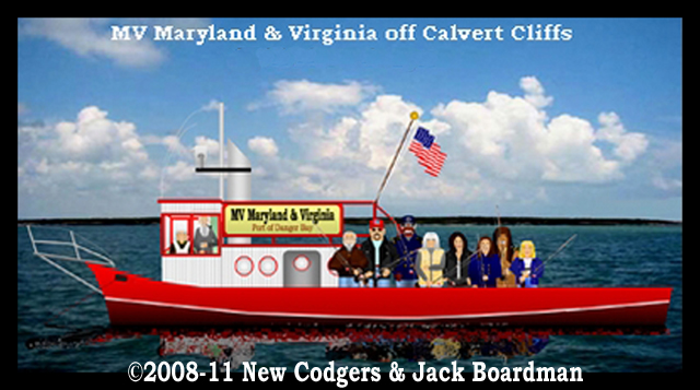 MV Maryland & Virginia off Calvert Cliffs