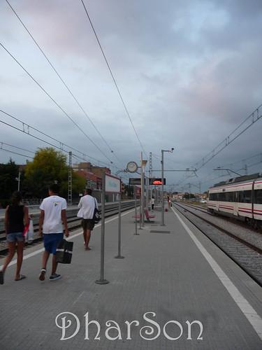 Met de trein terug van Barcelona