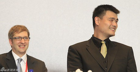 July 20th, 2011 - Yao Ming with former translator Colin Pine