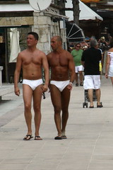 Magaluf: Matching Trunks (chairmanblueslovakia) Tags: gay sea sun sex island islands spain sand muscle muscular crowd young resort spanish thong flip booze british mallorca flop butch tanned majorca magaluf balearic toursit baleraic