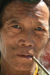 Local villager on the Kameng river Adventure rafting and Kayaking trip