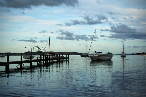 Boats on the Derwent River