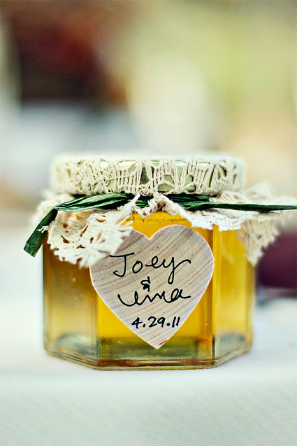 jars with labels and doilies
