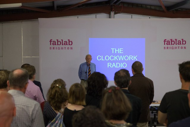 Trevor Baylis at Brighton Fablab Event