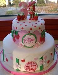 Strawberry Shortcake Cake (Hot Mama's Cakes) Tags: birthday pink cake sacramento strawberryshortcake fondant hotmamascakes