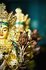 ~duality~ (Subinkrishna G) Tags: shadow india canon eos religion sigma tibetan spirituality karnataka coorg settlement bylakuppe 1770mm 1000d