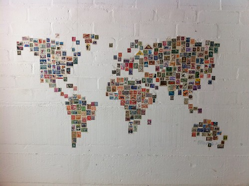 World Stamp Map