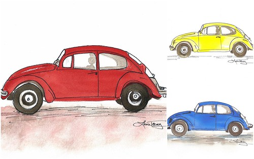 Punch Buggy watercolor prints