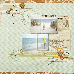 seaside (ania-maria) Tags: scrapbooking layout seaside mint lo balticsea scrap ils ilowescrap aniamaria