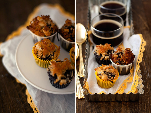 6 Hungrygirl-Crunchy Cocon Macadamia Topped Brownie Muffins