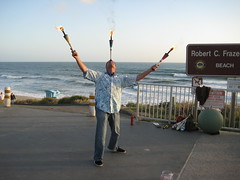 Juggler at the Beach