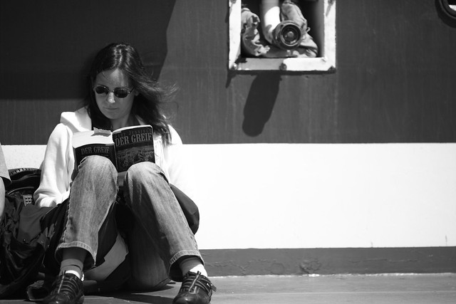 Reading on a Ferry