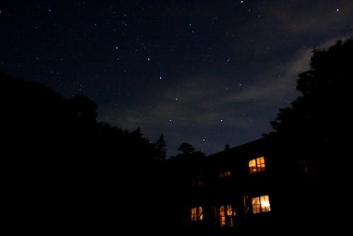 万計山荘の夜