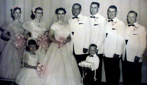 1958 Wedding party for Pete and Maryrose Esquibel
