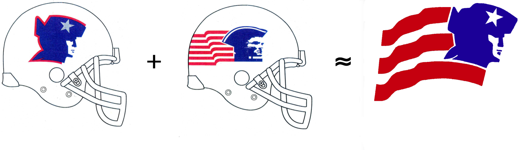 Uni Watch Traces The Lineage Of The Patriots Flying Elvis Logo Espn