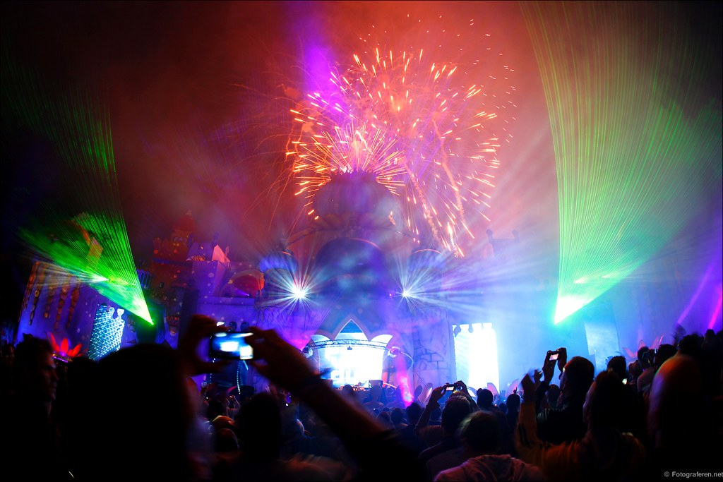 Castle fireworks (Paul van Dyk stage)