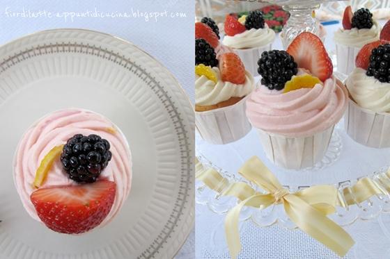 Cupcakes al limone e frosting al cioccolato bianco e ricotta
