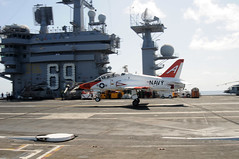 A T-45C Goshawk training aircraft performs a touch-and-go landing aboard USS Dwight D. Eisenhower (Official U.S. Navy Imagery) Tags: training aircraft aviation navy landing sailor aircraftcarrier usnavy flightdeck touchandgo trainingaircraft ussdwightdeisenhowercvn69 t45cgoshawk