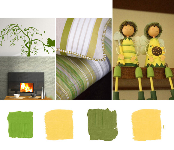 Green Color Scheme Example For Summer Home Decor | DecorPedia