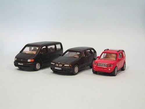 Repainted modern cars